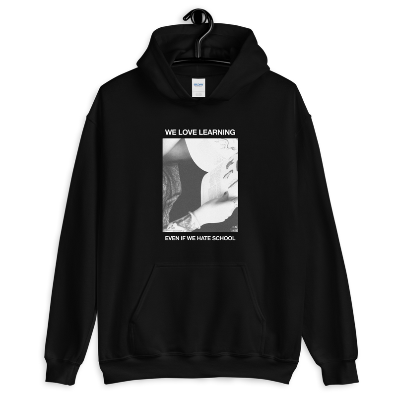 We Love Learning, Even if We Hate School - Hoodie - School Kills Artists