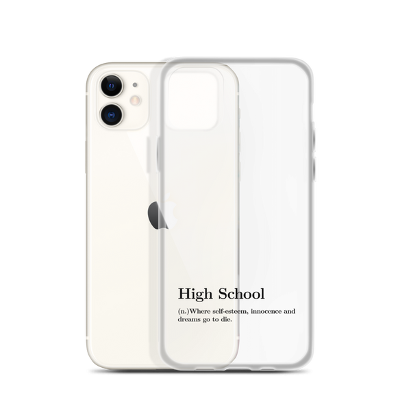 "High School Definition ""Black"" - Phone Case for iPhone - School Kills Artists"