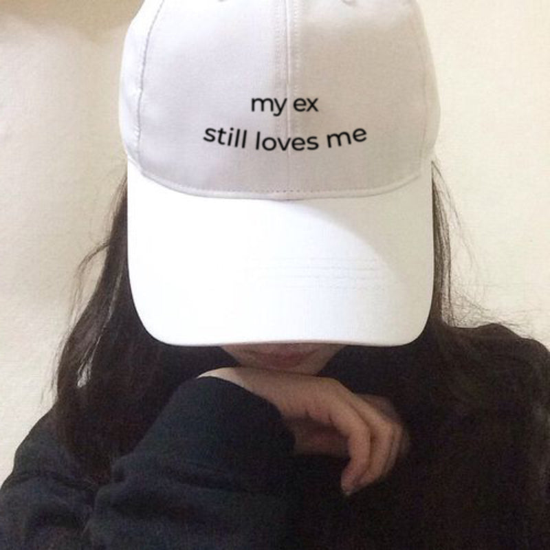 my ex still loves me - Embroidered Cap - School Kills Artists