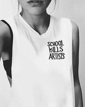 Graffiti School Kills Artists - Sleeveless Tank - School Kills Artists