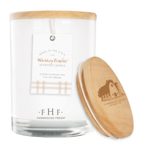 Whiskey Bonfire™ Candle with Wooden Lid