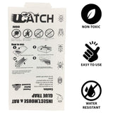 UCatch Glue Boards Peanut butter scented (6 Traps) - ucatchstore