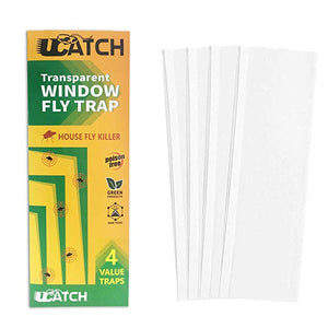 UCatch transparent Window Fly Traps (4 Traps) - ucatchstore