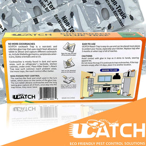 Ucatch ™XRoach Cockroach Glue Trap (Bait included) 21 traps - ucatchstore