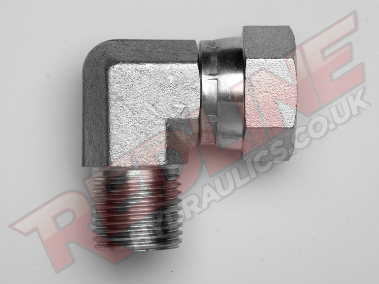 BSP MALE X BSP SWIVEL FEMALE 90 COMPACT ELBOW ADAPTOR HYDRAULIC ADAPTOR  ( REDLINE 60-2006 )