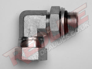 BSP FEMALE SWIVEL X BSP ADJ MALE 90 COMPACT ELBOW HYDRAULIC ADAPTOR  ( REDLINE 60-2013 )