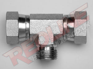 BSP SWIVEL FEMALE X FEMALE X MALE TEE ADAPTOR HYDRAULIC ADAPTOR  ( REDLINE 60-3006 )