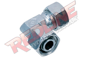 HYDRAULIC ADJUSTABLE STUD ELBOW COMPRESSION DIN 2353 FITTING EVW- ( REDLINE )