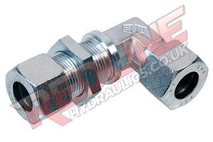 HYDRAULIC METRIC BULKHEAD ELBOW COMPRESSION FITTING DIN 2353 WSV- ( REDLINE )