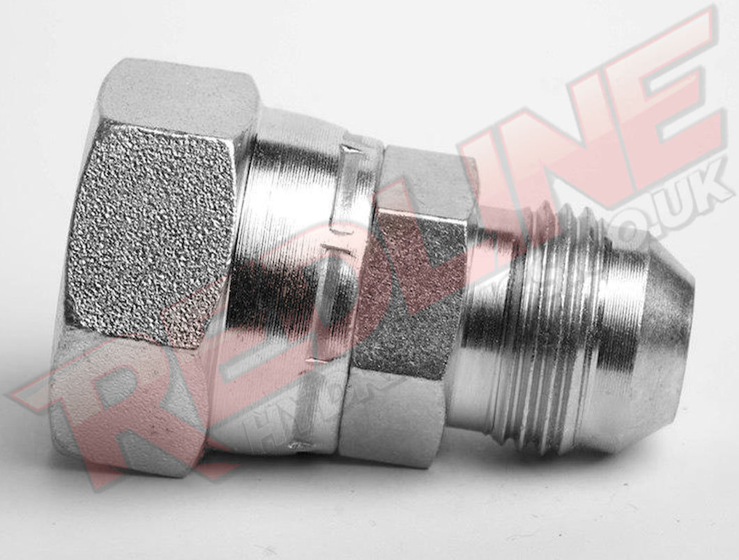 JIC MALE X BSP FEMALE SWIVEL ADAPTOR HYDRAULIC ADAPTOR  ( REDLINE 37-4140 )