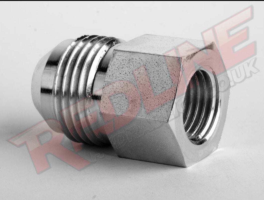 JIC MALE X BSP FIXED FEMALE GAUGE ADAPTOR HYDRAULIC ADAPTOR  ( REDLINE 37-4160 )