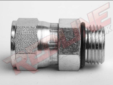 JIC FEMALE SWIVEL X SAE MALE ADAPTOR HYDRAULIC ADAPTOR  ( REDLINE 37-4190 )
