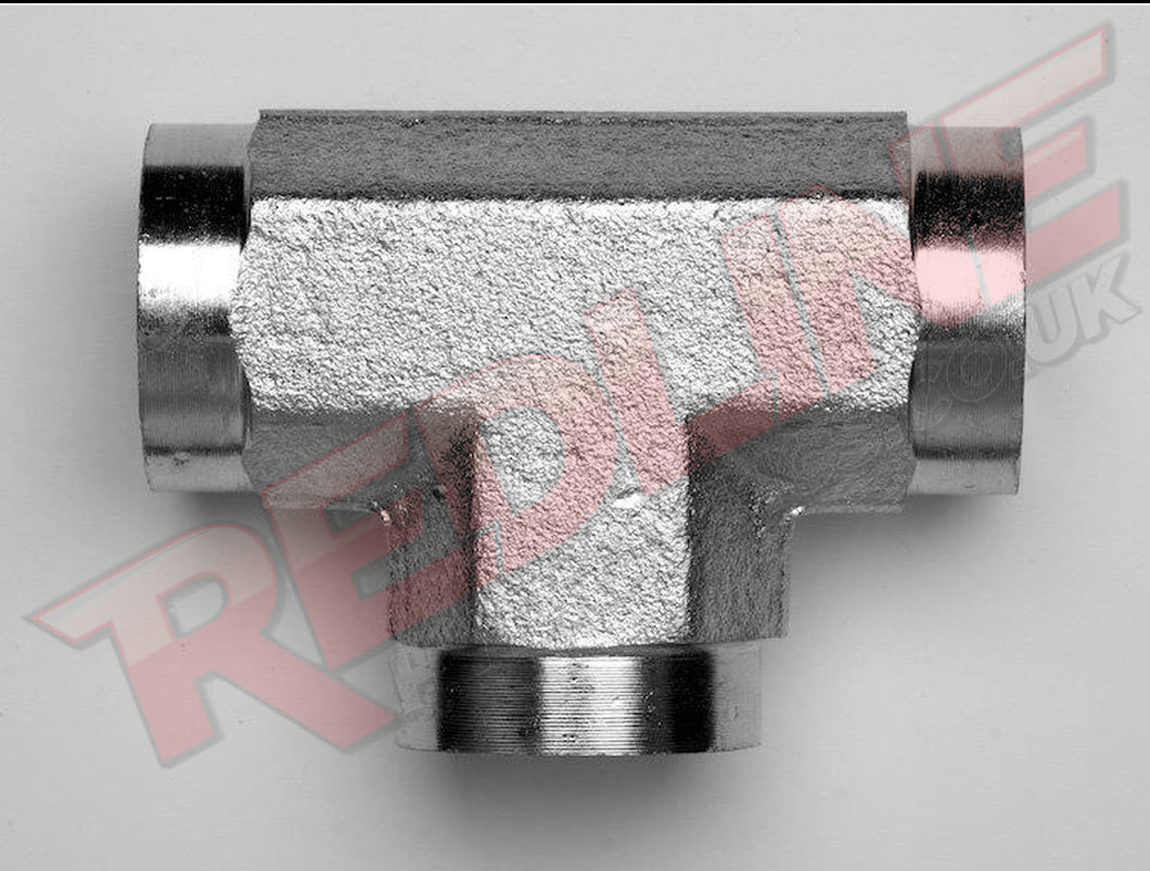NPTF FIXED FEMALE TEE ADAPTOR HYDRAULIC ADAPTOR  ( REDLINE 50-5605 )