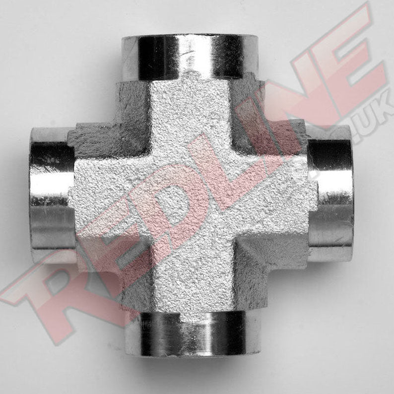NPTF FEMALE FIXED CROSS HYDRAULIC ADAPTOR  ( REDLINE 50-5652 )