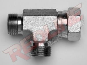 BSP MALE X BSP FEMALE SWIVEL X BSP MALE TEE ADAPTOR HYDRAULIC ADAPTOR  ( REDLINE 60-3003 )