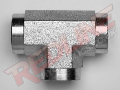 BSP FIXED FEMALE TEE ADAPTOR HYDRAULIC ADAPTOR  ( REDLINE 60-3005 )