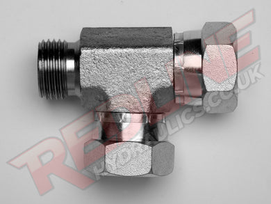 BSP MALE X SWIVEL FEMALE X FEMALE TEE ADAPTOR HYDRAULIC ADAPTOR  ( REDLINE 60-3007 )