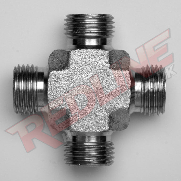 BSP MALE CROSS HYDRAULIC ADAPTOR  ( REDLINE 60-5000 )