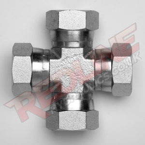 BSP SWIVEL FEMALE CROSS HYDRAULIC ADAPTOR  ( REDLINE 60-5001 )