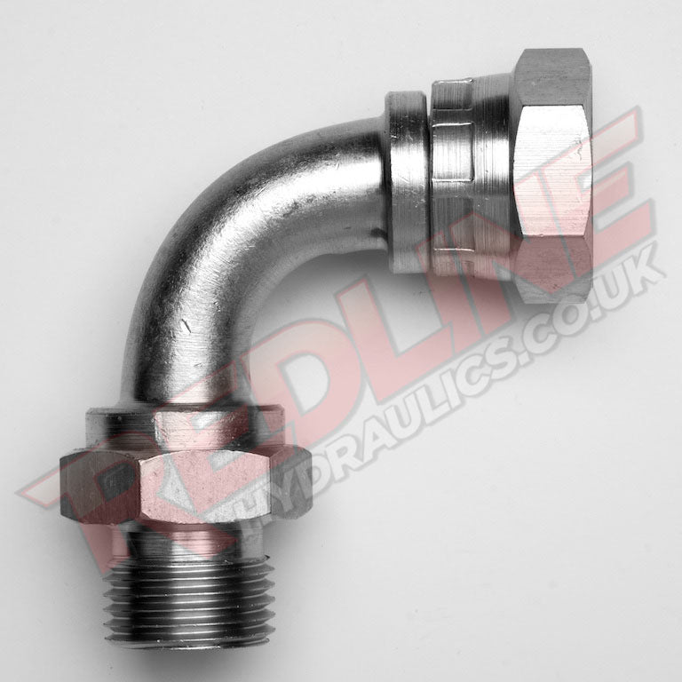 BSP MALE X BSP SWIVEL FEMALE 90 SWEPT EL HYDRAULIC ADAPTOR  ( REDLINE 60-6009 )