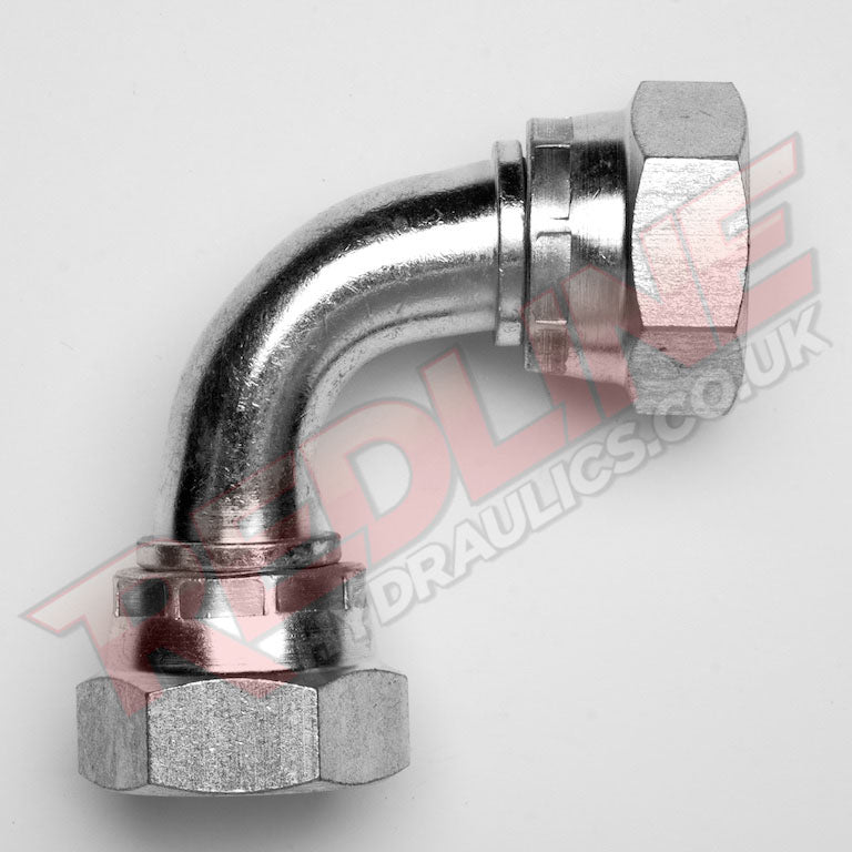 SWIVEL FEMALE X SWIVEL FEMALE 90 SWEPT E HYDRAULIC ADAPTOR  ( REDLINE 60-6010 )