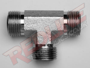 ORFS MALE TEE ADAPTOR HYDRAULIC ADAPTOR  ( REDLINE OR-9000 )