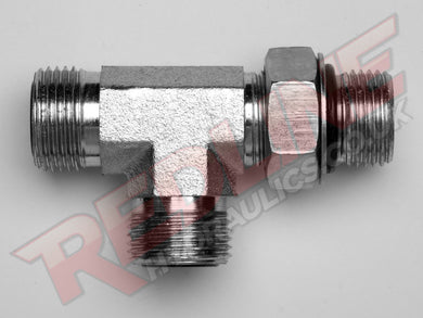 ORFS MALE X UNF ADJ X ORFS MALE TEE HYDRAULIC ADAPTOR  ( REDLINE OR-9070 )