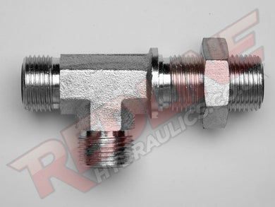 ORFS MALE X ORFS BULKHEAD X ORFS MALE TEE HYDRAULIC ADAPTOR  ( REDLINE OR-9160 )