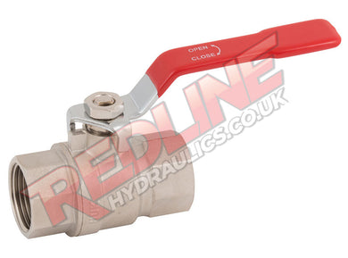 HYDRAULIC BALL VALVE 2 WAY BSP FEMALE LOW PRESSURE VL ( REDLINE )
