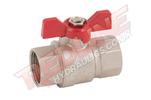 HYDRAULIC BALL VALVE 2 WAY BSP MALE FEMALE BUTTERFLY T HANDLE  VTF ( REDLINE )