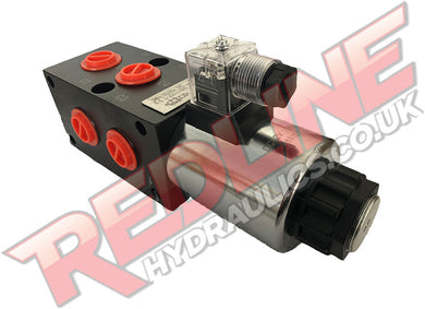 HYDRAULIC DIVERTER VALVE 3/8 BSP PORTED 8 WAY HYDRAULIC ADAPTOR ( REDLINE SA6V38 )