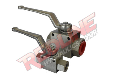 HYDRAULIC BALL VALVE 2 WAY BSP FEMALE HIGH PRESSURE GE2G ( REDLINE )