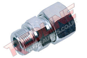 HYDRAULIC MALE STUD COUPLING FORM B DIN 2353 COMPRESSION FITTING ( REDLINE )