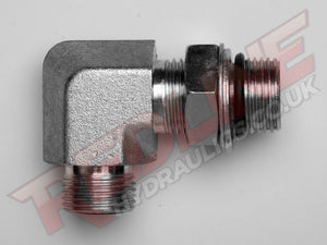 ORFS MALE X BSP ADJ MALE 90 COMPACT ELBOW ADAPTOR HYDRAULIC ADAPTOR  ( REDLINE OR-8040 )