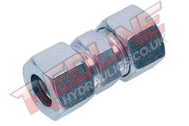HYDRAULIC METRIC EQUAL STRAIGHT COMPRESSION FITTING DIN 2353 GV- ( REDLINE )
