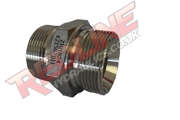 HYDRAULIC STAINLESS STEEL BSP MALE CONED ADAPTOR Z10 ( REDLINE ) 316