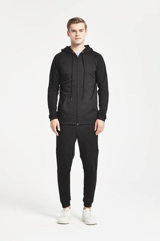 Silver Bay Men's Full Zip Long Sleeved Terry Hoodie - OctiveSports
