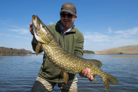 tom whieldon with pike in hand