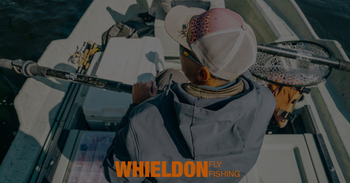 Whieldon Fly Fihsing Guides and staff web page slider image of guide fly fishing in drift boat
