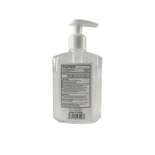 Hand Sanitizer, 8oz, Clear liquid