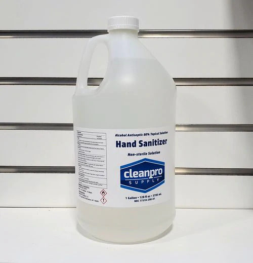 Hand Sanitizer, Gallon, Clear liquid, 128oz, 1CS/4gal