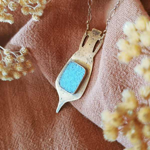 Amphora Necklace N°2 | Sleeping Beauty Turquoise
