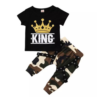 My King Camo Pants Set - The Childrens Firm