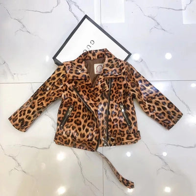 Leopard Leather Jacket - The Childrens Firm
