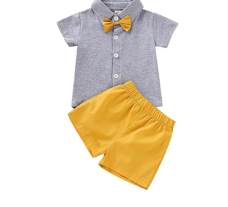 Bow-Tie Buddy Short SET - The Childrens Firm