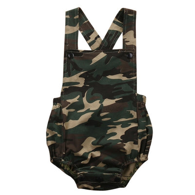 Camouflage Newborn Baby Romper - The Childrens Firm