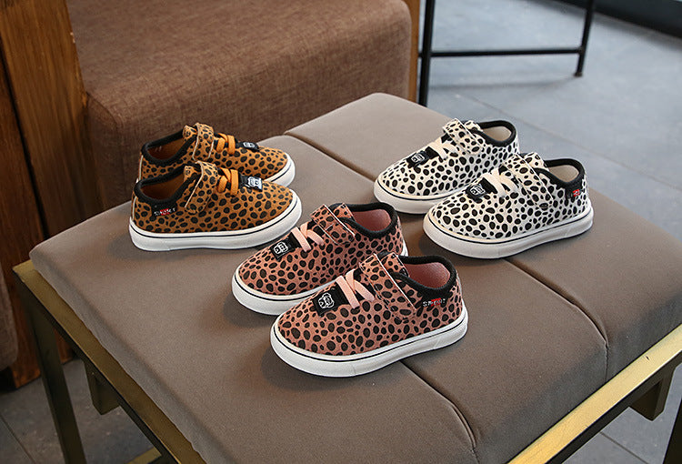 Leopard Cross Sneaks - The Childrens Firm