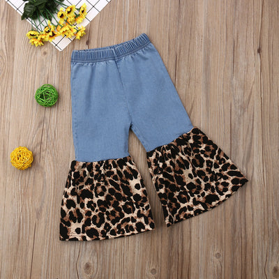 Baby Girls Cheetah Flare Pants - The Childrens Firm