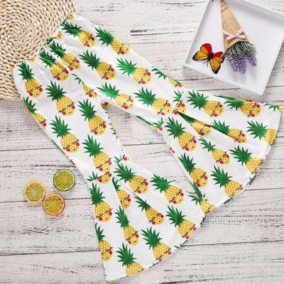 Girl Power Pineapple Bell Bottoms - The Childrens Firm