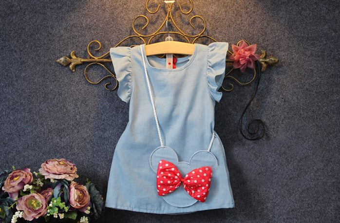 Minnie Mouse Denim Dress with matching Bag - The Childrens Firm